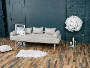Le MAR daybed sofa raw wood - cream small 3