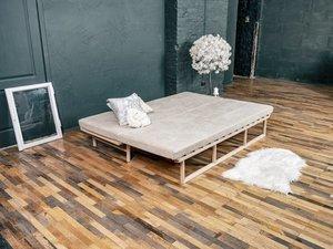 Le MAR daybed sofa raw wood - cream small 4