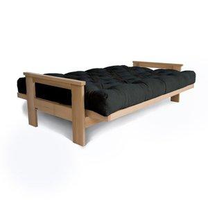 MEXICO sofa raw wood - graphite small 1