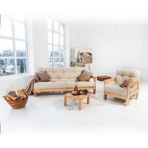MEXICO sofa raw wood - cream small 4