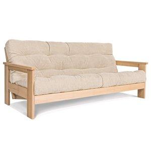 MEXICO sofa raw wood - cream small 3