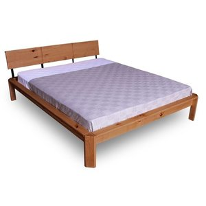 Loft double bed 180x200 caramel (linseed oil) small 0