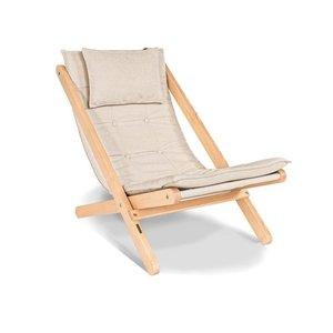 Allegro deckchair raw wood - cream small 4