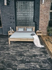 Drop Hard bedroom bed 160x200 oiled wood (linseed oil) small 2