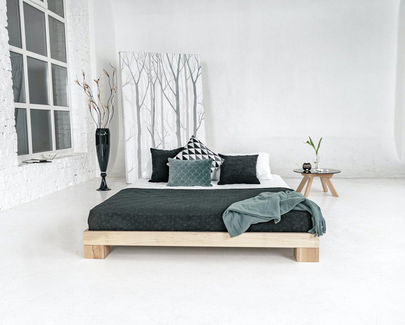Cube bedroom bed 180x200 raw wood