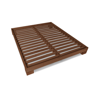 Cube wooden bed 160x200 walnut (linseed oil) small 1