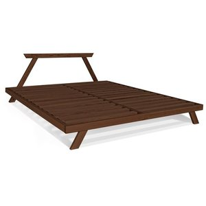 Allegro double bed 180x200 - walnut (linseed oil) small 2