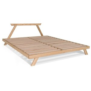 Allegro double bed 140x200, raw wood small 2