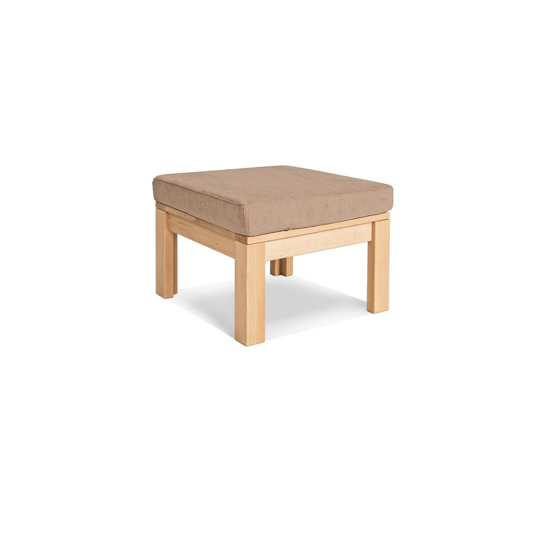MEXICO multifunction table with a footstool, oiled wood (linseed oil) - beige