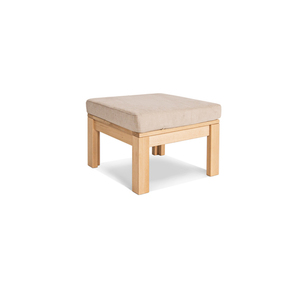 MEXICO multifunction table with a footrest, oiled wood (linseed oil) - cream small 1