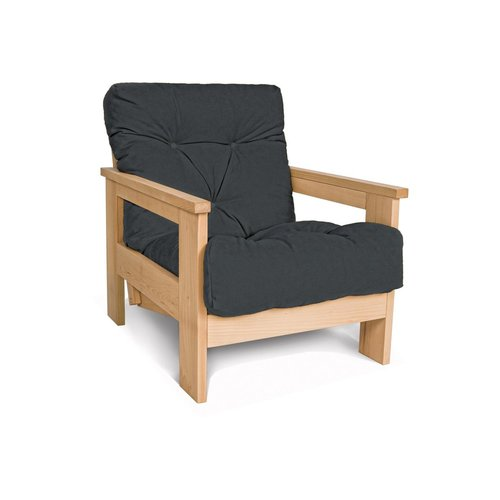 MEXICO armchair oiled wood (linseed oil) - graphite