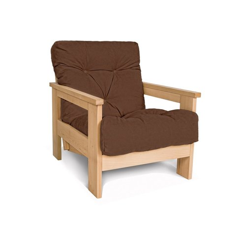 MEXICO armchair, oiled wood (linseed oil) - brown