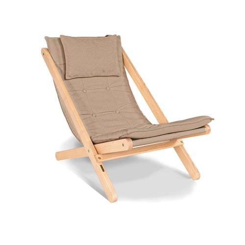 Allegro sun lounger oiled wood (linseed oil) - beige