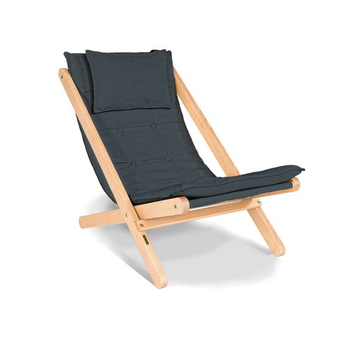 Allegro sun lounger oiled wood (linseed oil) - graphite