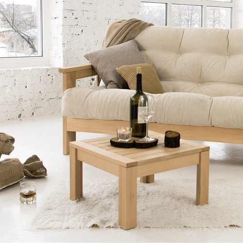 MEXICO sofa oiled wood (linseed oil) - cream