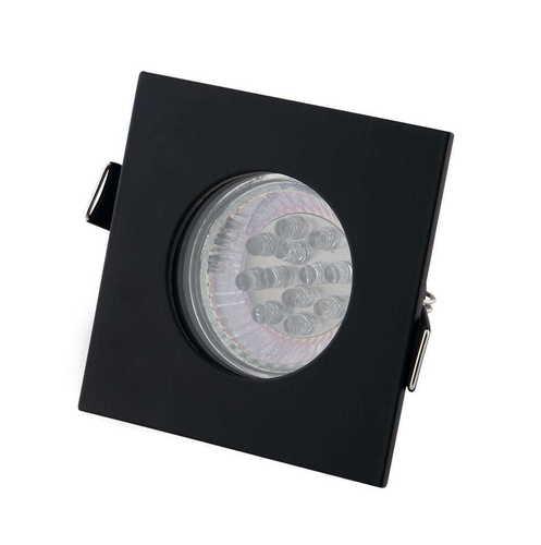 SQUARE H0093 BLACK HALOGEN LUMINAIRE IP44 Max Light