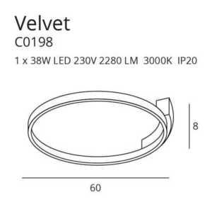 VELVET C0198 PLAFON Max Light small 2