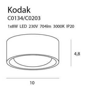 KODAK C0203 PLAFON Max Light small 1