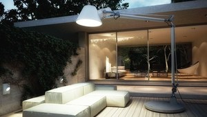 Tolomeo XXL outdoor lamp with base - LED Artemide small 0