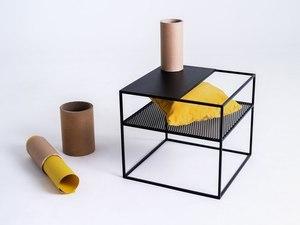 MATRIX METAL 50 coffee table - black small 2