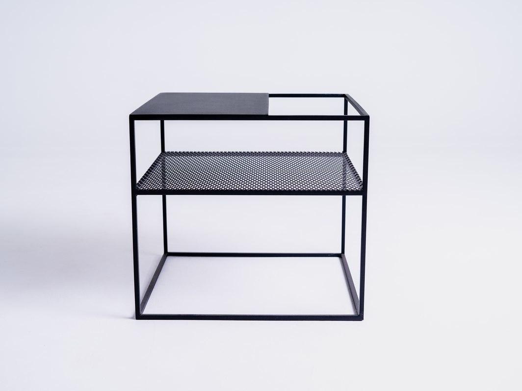 MATRIX METAL 50 coffee table - black