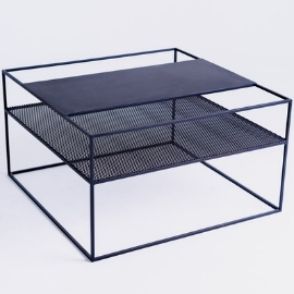 MATRIX METAL 80 coffee table - black small 5