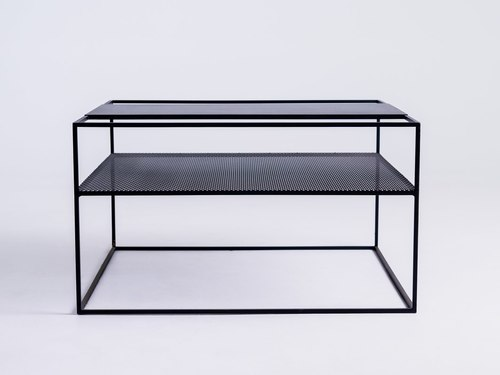 MATRIX METAL 80 coffee table - black