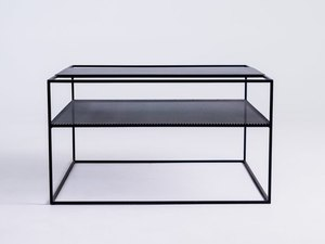 MATRIX METAL 80 coffee table - black small 0