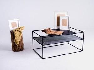 MATRIX METAL 100X60 coffee table - black small 1