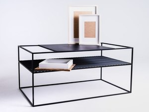 MATRIX METAL 100X60 coffee table - black small 2