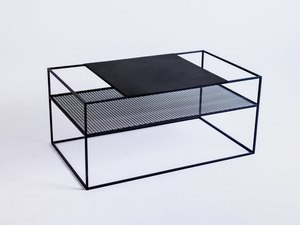 MATRIX METAL 100X60 coffee table - black small 3