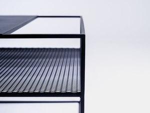 MATRIX METAL 100X60 coffee table - black small 4