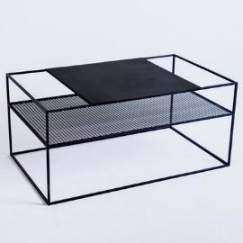 MATRIX METAL 100X60 coffee table - black small 5
