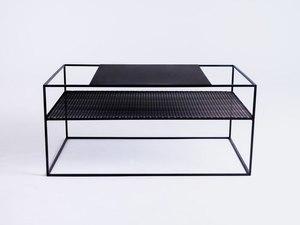 MATRIX METAL 100X60 coffee table - black small 0