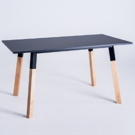 PRATO 140 dining table - black small 5