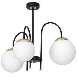 Ceiling Lamp Sparta Black / Gold 3x E14 small 1