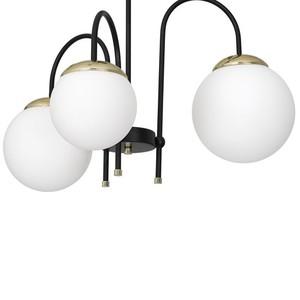 Ceiling Lamp Sparta Black / Gold 3x E14 small 2