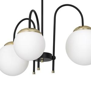 Ceiling Lamp Sparta Black / Gold 3x E14 small 3