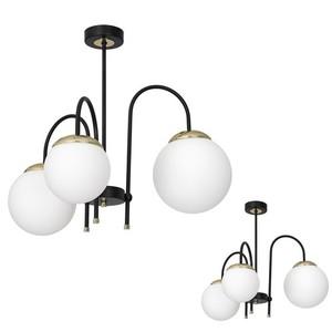 Ceiling Lamp Sparta Black / Gold 3x E14 small 0