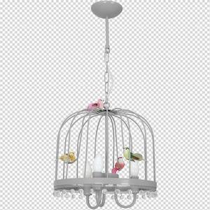 Hanging lamp Canaria Gray 3x E14 small 7