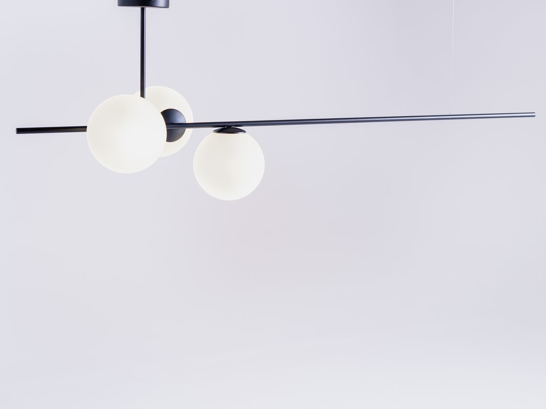 BOBLER horizontal pendant lamp - black