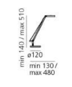 Table lamp Artemide Demetra Micro Table Czarna 2700K small 3