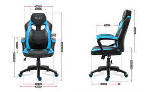 Ultra comfortable HZ-Force 2.5 Blue gaming chair small 3