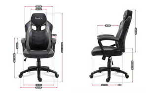 Ultra comfortable HZ-Force 2.5 Gray gaming chair small 3