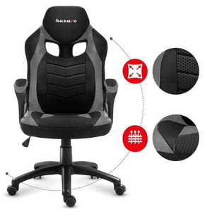 Ultra comfortable HZ-Force 2.5 Gray Mesh gaming chair small 2