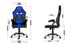 Ultra comfortable HZ-Force 3.0 BLUE gaming chair small 3
