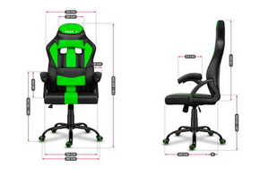 Ultra comfortable HZ-Force 3.0 Green gaming chair small 3