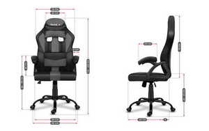 Ultra comfortable HZ-Force 3.0 Gray Mesh gaming chair small 3