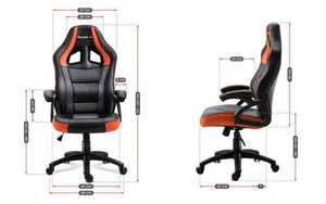 Ultra comfortable gaming chair HZ-Force 4.2 Orange small 3