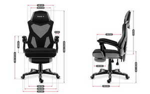 Ultra comfortable HZ-Combat 3.0 Gray gaming chair small 3